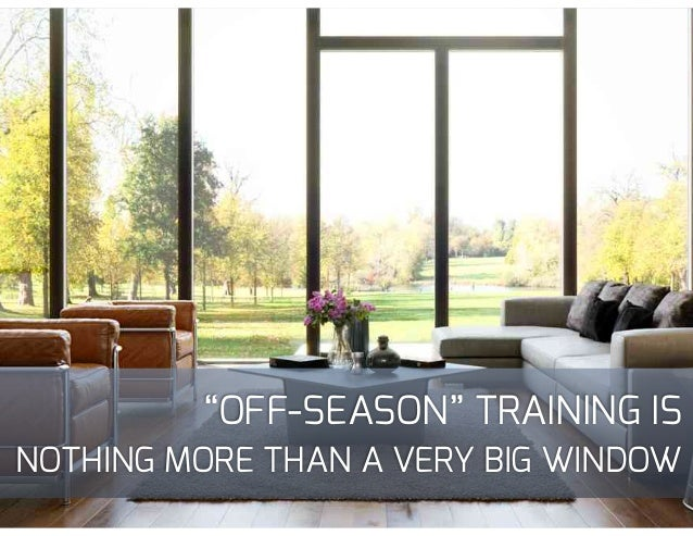 """""""IN-SEASON""""TRAINING IS A BALANCING ACT"""