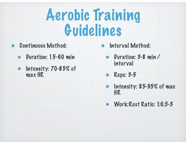 In-Season • The combination of games and standard duration technical / tactical practices may provide sufficient aerobic st...