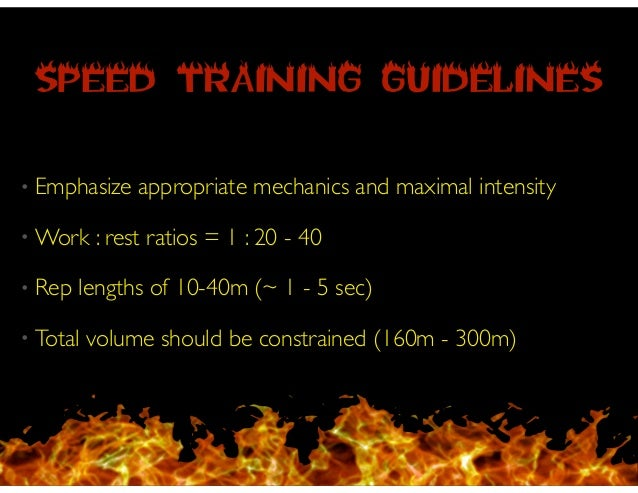 Off-Season • Focus on acceleration first! ! • Resisted runs & moderate hills are appropriate methods for developing both me...