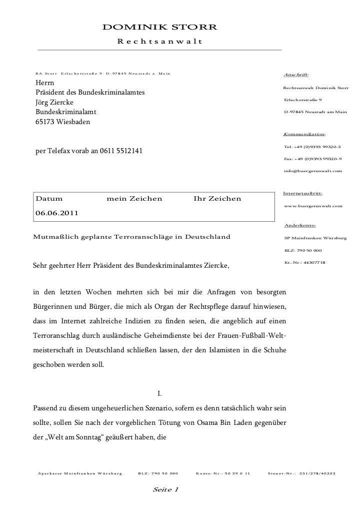 DOMINIK STORR                                  RechtsanwaltRA Storr   Erlacherstraße 9   D-97845 Neustadt a. Main         ...