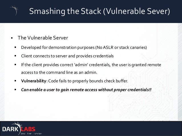 Offensive cyber security: Smashing the stack with Python