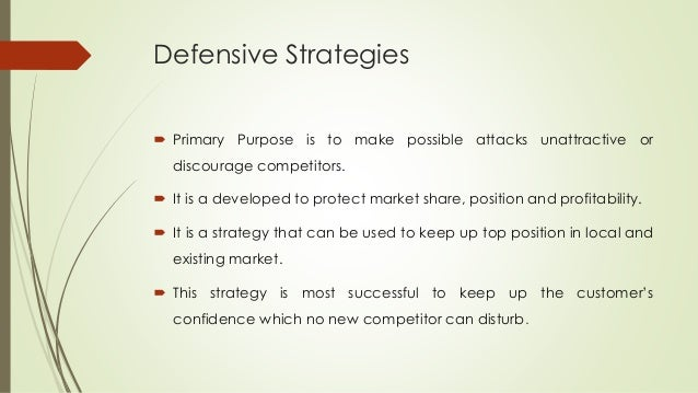 Checklist of some offensive and defensive competitive strategies for international business