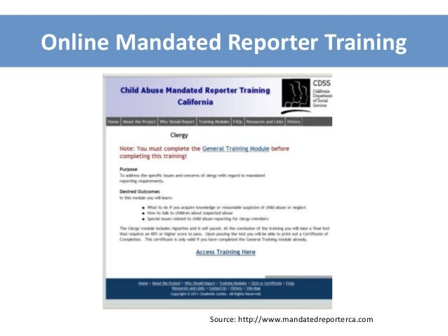 Mandated Reporting In California: A Guide For Churches