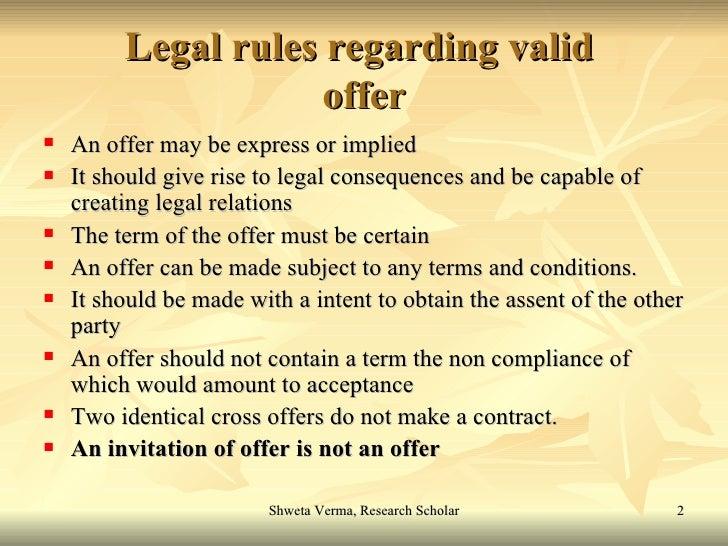 ufe0f legal rules of valid acceptance  commerce gurukul  legal