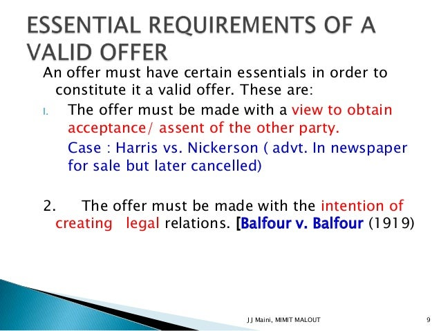 offer and acceptance slideshare