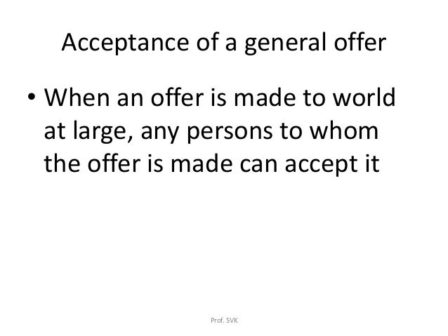 law essays on offer and acceptance