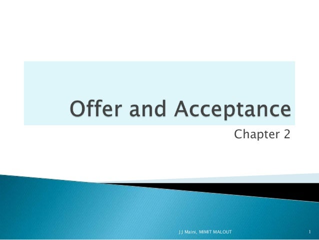 offer and acceptance  2