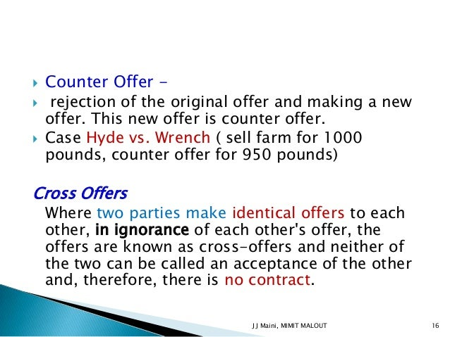 how to make a counter offer