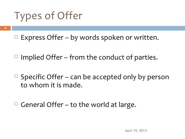 what is implied offer