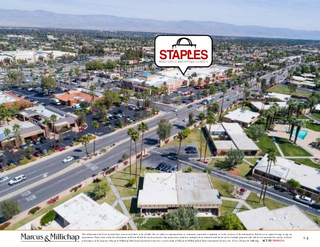 staples anchored shopping center in palm desert ca