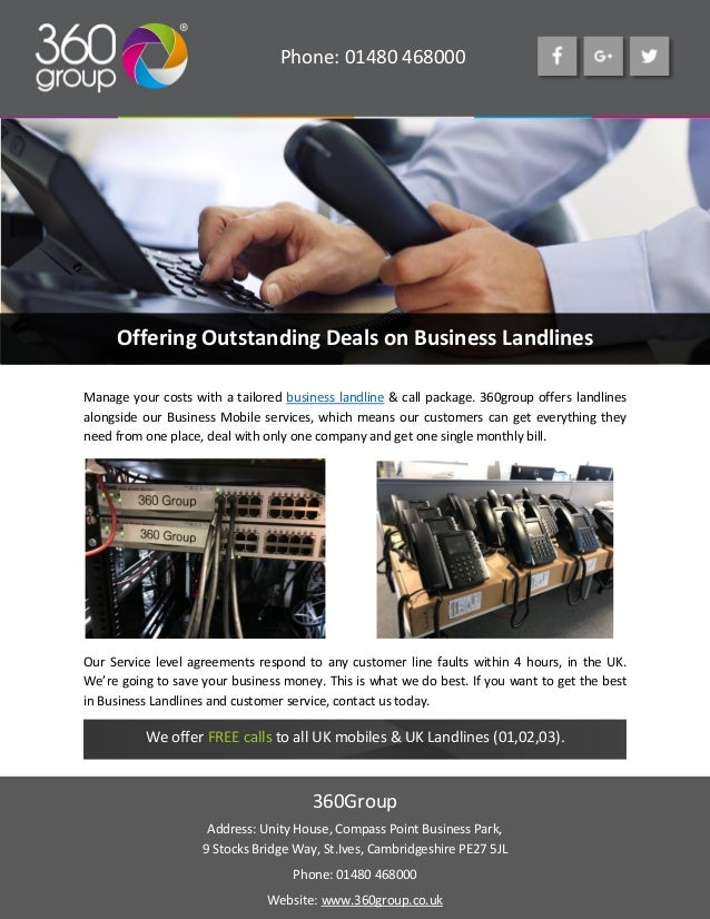 landline deals only