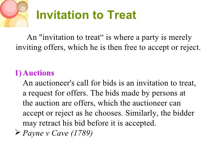 invitation to treat cases