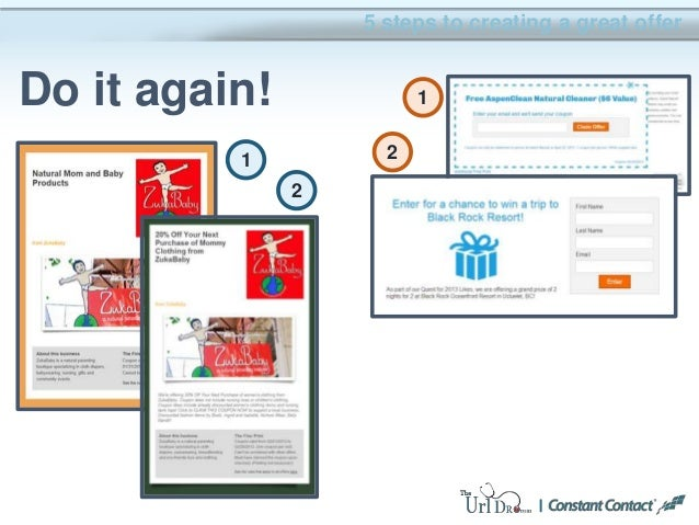 5 steps to creating a great offer Do it again! 1 2 1 2
