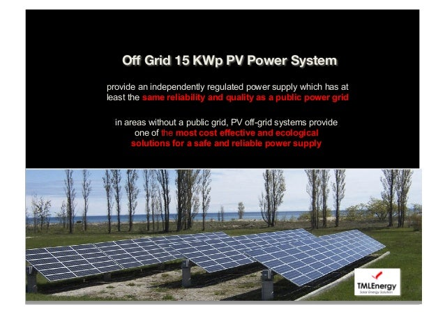 Off Grid Pv System For Indonesia