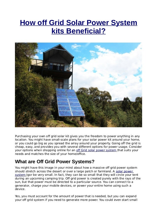 How Off Grid Solar Power System Kits Beneficial - Download Small Solar Power System Kit PNG