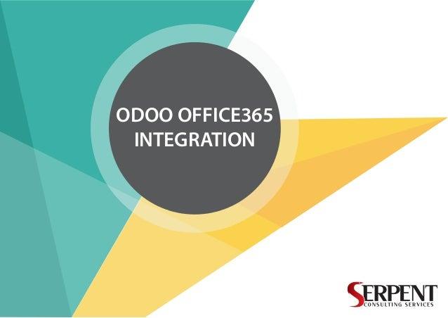 ODOO OFFICE365 INTEGRATION