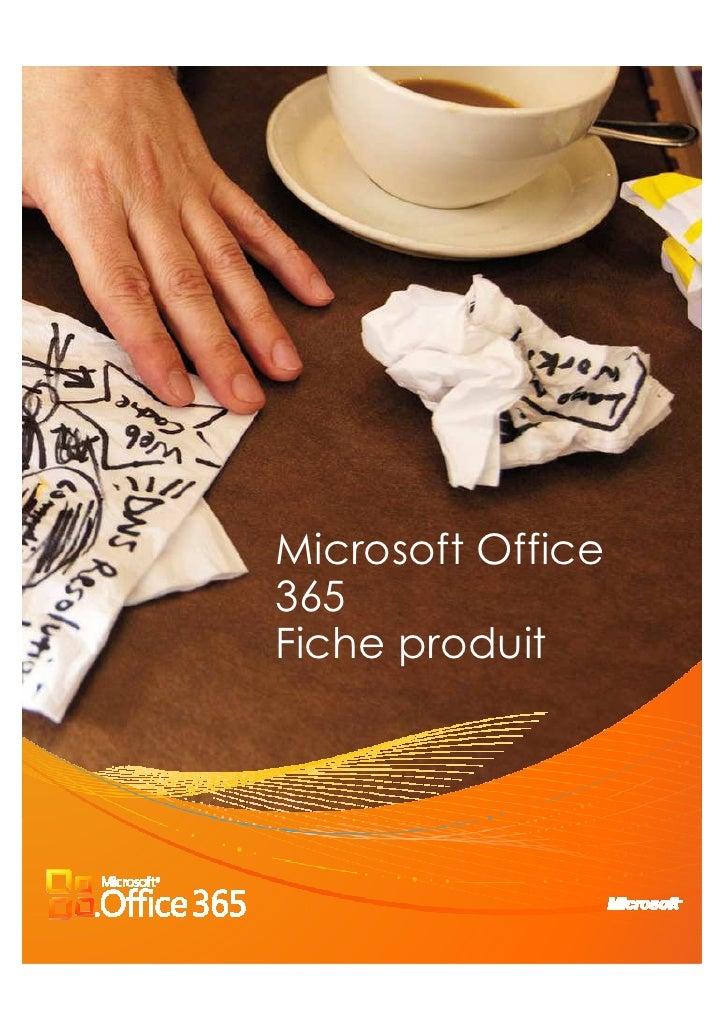 Microsoft Office365Fiche produit