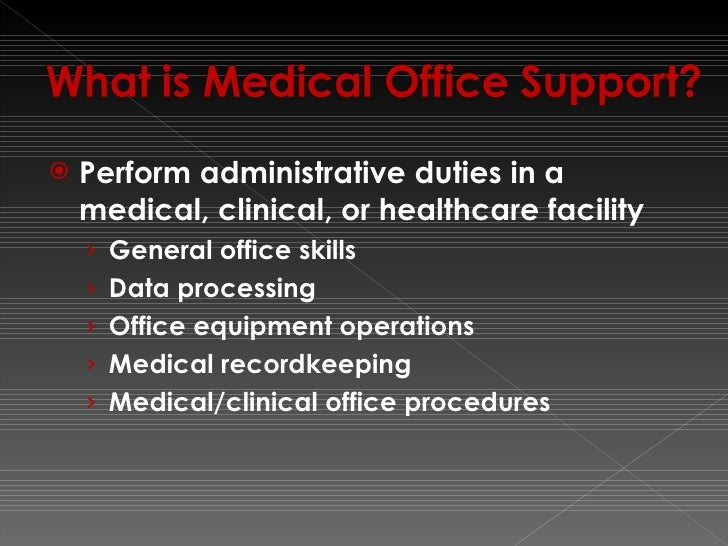 medical office administration duties