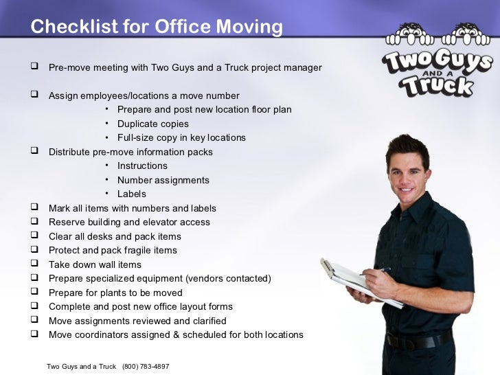 Office Relocation Project Plan - Tips for a Successful Office Move ...
