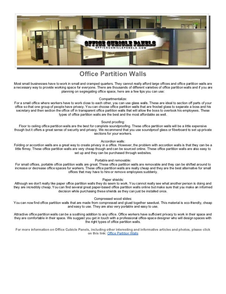 office partition walls On partition wall agreement