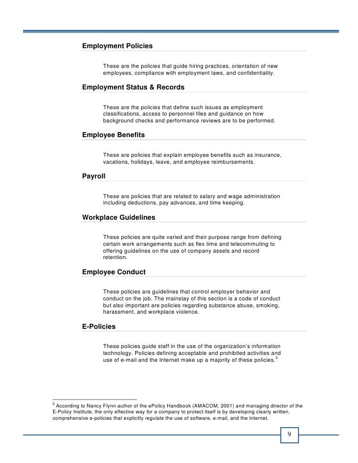 office manual template - office policy manual e book