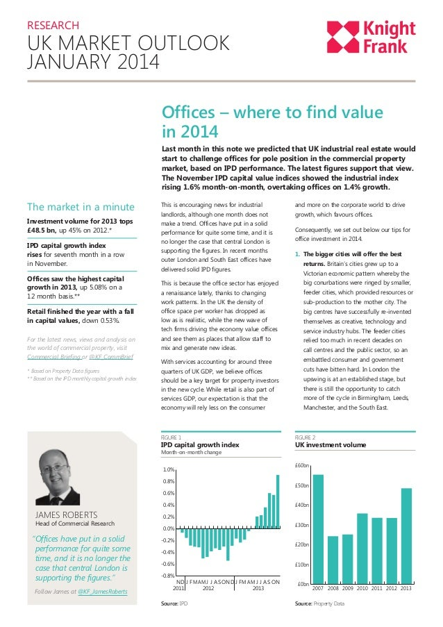 RESEARCH  UK MARKET OUTLOOK JANUARY 2014 Offices – where to find value in 2014 Last month in this note we predicted that U...