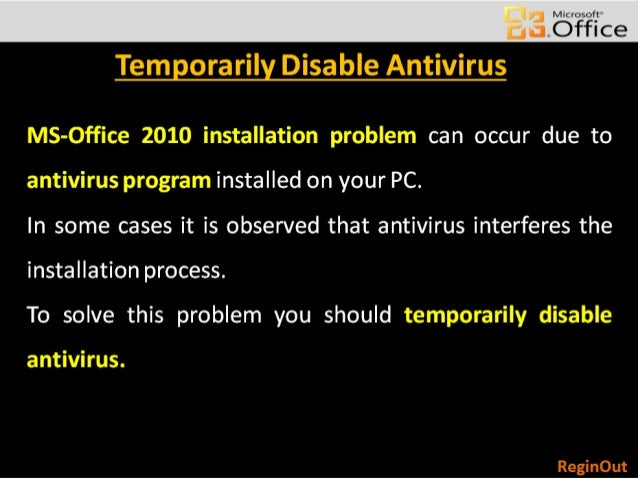 fix ms office 2010 installation error 2 click here for more details