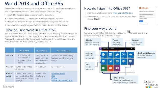 Office365 office2013 office online