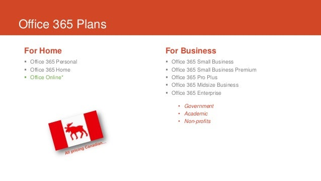 Office 365 – comparing P, M and E plans
