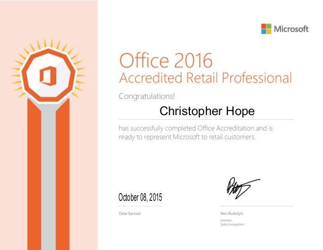 365 certificate office slideshare upcoming hope