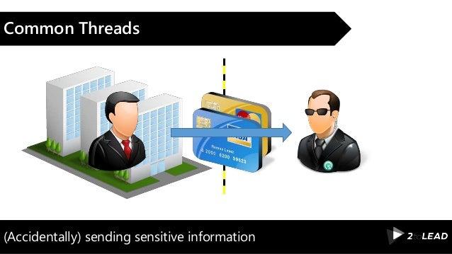 (Accidentally) sending sensitive information Common Threads