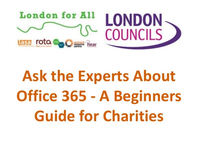 Ask the Experts About Office 365 - A Beginners Guide for Charities