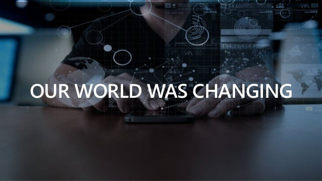 Sensitivity: Regular OUR WORLD WAS CHANGING