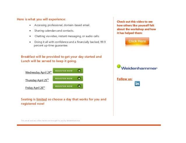Office 365 Hands-on Workshop Slide 2