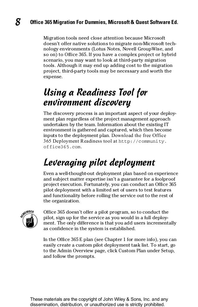 Office 365 deployment readiness tool released.