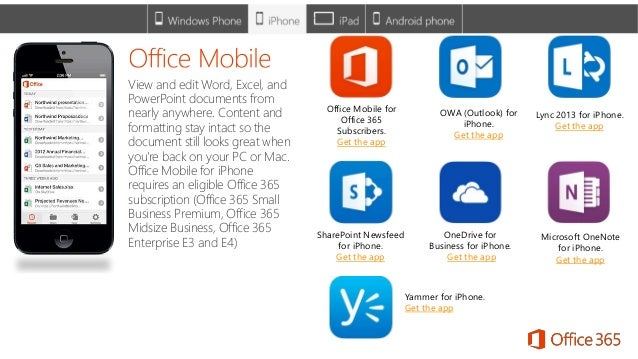 Office 365 on mobile devices - Office for mobile devices ...