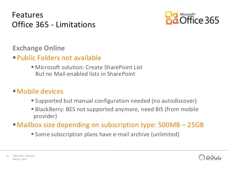 Office 365 presentation