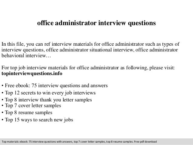 office administrator interview questions