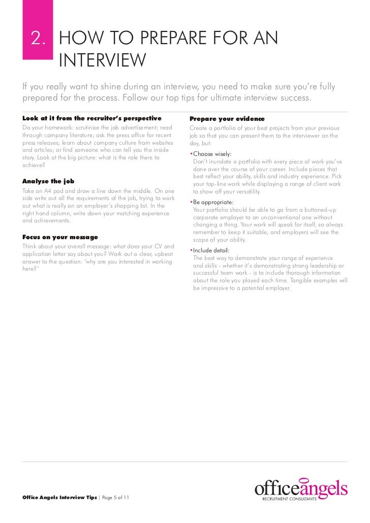 Office Angels Interview Tips   Page 4 Of 11; 5.