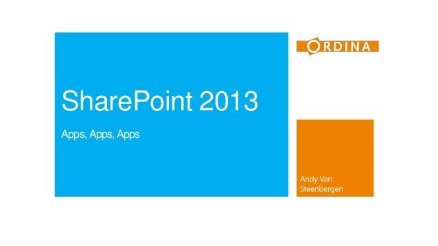 SharePoint 2013 Apps, Apps, Apps