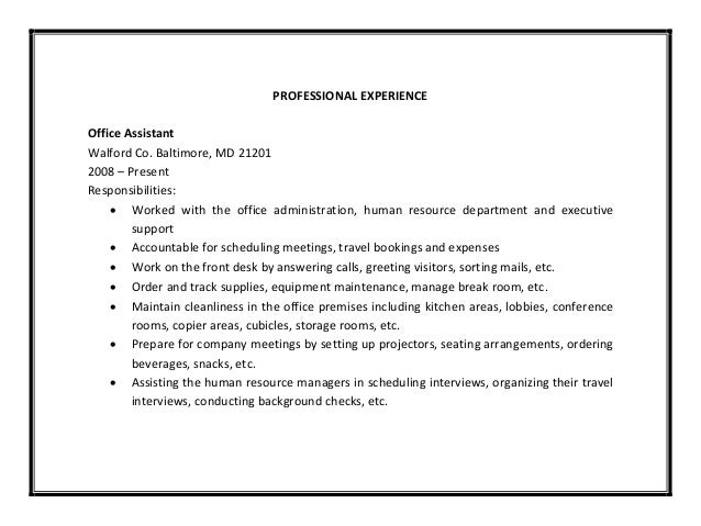 Office assistant resume sample pdf - Office administrator job responsibilities ...