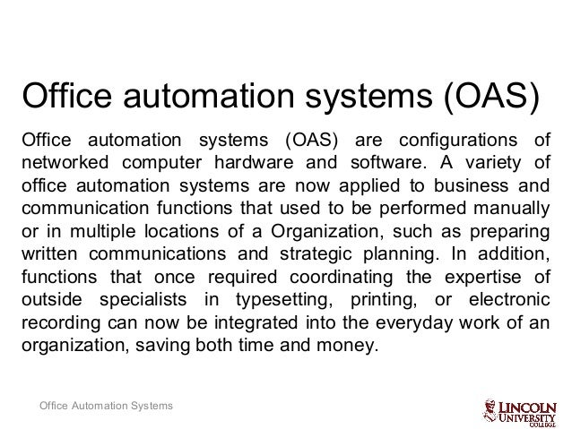 Office automated system Disadvantage Office Automation Ricohdocs Office Automation Sysmtems