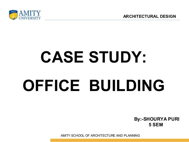 Office case study for Office design productivity research