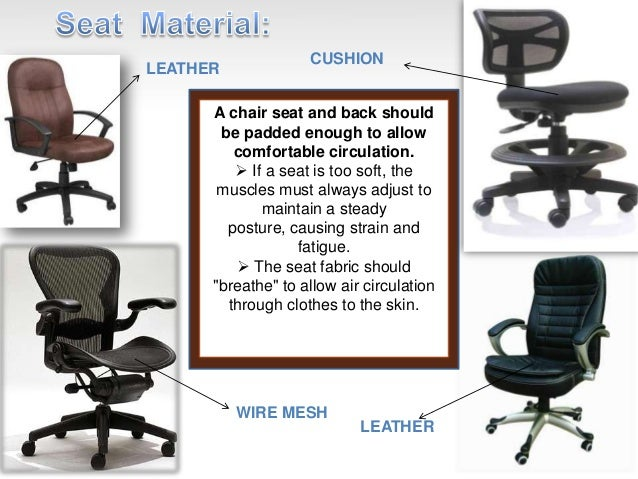 19. An ergonomically designed chair ...
