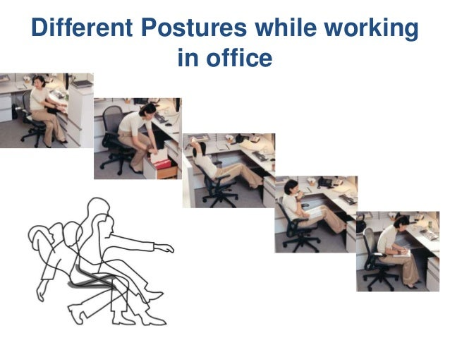 Superbe Different Postures While Working In Office; 5.