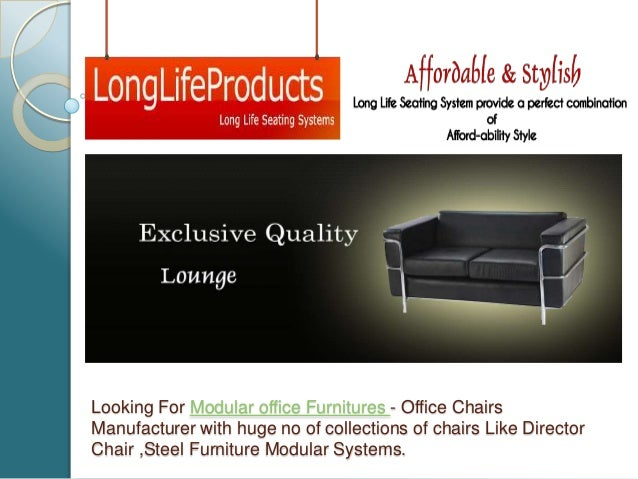 Looking For Modular office Furnitures - Office Chairs Manufacturer with huge no of collections of chairs Like Director Cha...