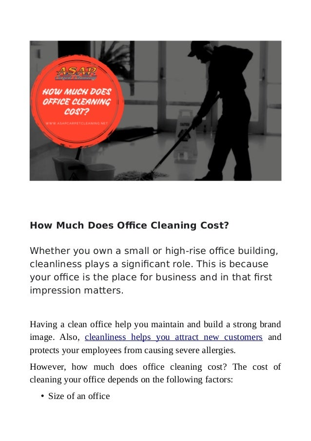 How Much Does Office Cleaning Cost