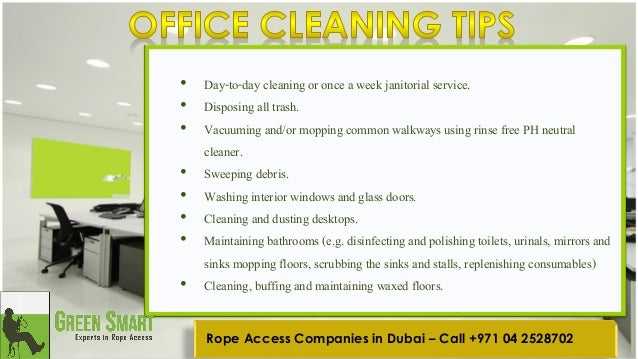 Office cleaning safety tips