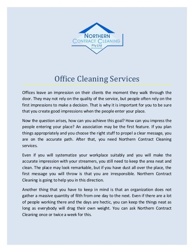 office cleaning contracts