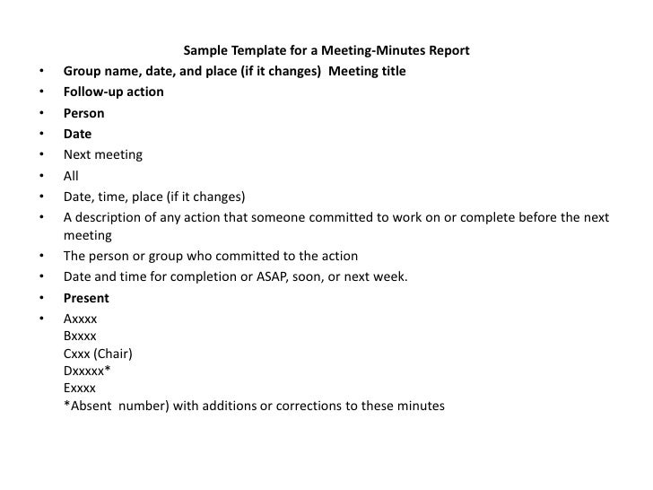 office meeting minutes